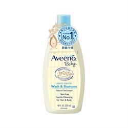 Aveeno Baby Natural Oat Extract Wash & Shampoo 532ml.