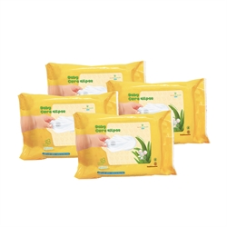 Swissnatürlich 有機純天然嬰兒蘆薈潔膚巾30片WC-0018/4(4包裝)