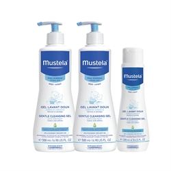 Mustela 髮膚沐浴啫喱NN101 (500ml x 2+200ml x 1)