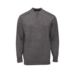 Montagut 頂級羊絨半襟針織衫RM205702-泥灰夾花