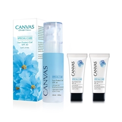 CANVAS 天然清爽透薄防曬乳液套裝