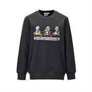 The Smurfs Cotton Baby Terry Sweatshirt 212AP108 - Dark Grey