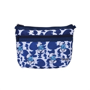 The Smurfs 2-Zip Cosmetic Pouch 212AP405 - Navy