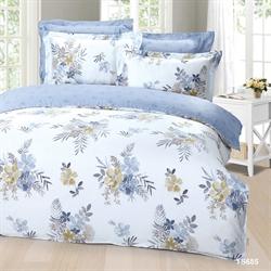 Cherry 1380 Threads 100% Tencel Bed-Set  (Fitted Sheet+Duvet Cover+Pillow Case) TS685 (Queen).