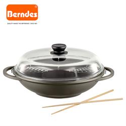 Bonanza Induction Saucepan w/glass lid 18cm + Wok w/ lid 32 cm and accessories (071208-BI + 074983-BI).